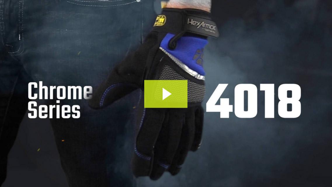 Cut 5 Mechanic Work Gloves   Chrome Series® 4018