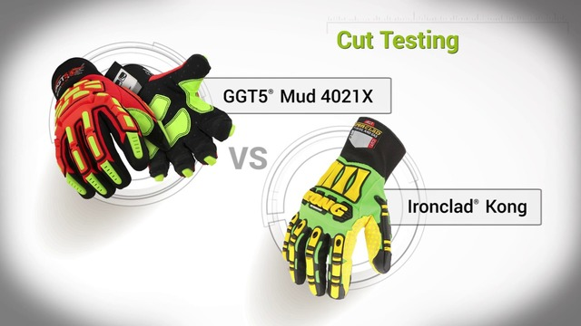 Cut Testing | GGT5® 4021X vs. Ironclad® Kong