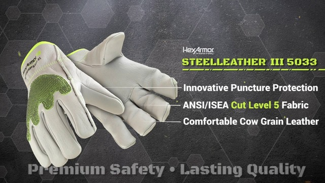 SteelLeather® 5033 vs Traditional Leather Gloves