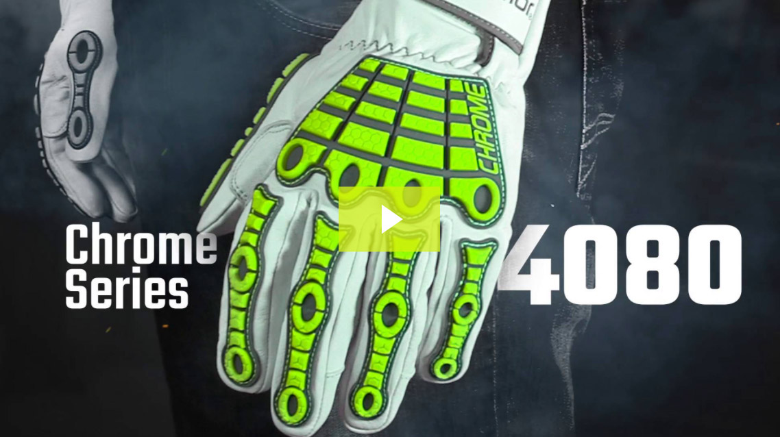 Leather Impact Gloves | Chrome Series® 4080